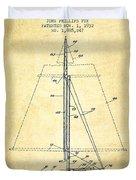 Sailboat Patent From 1932 - Vintage Duvet Cover