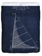 Sailboat Patent From 1962 - Navy Blue Duvet Cover