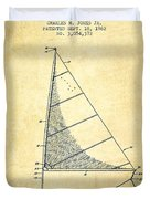 Sailboat Patent From 1962 - Vintage Duvet Cover