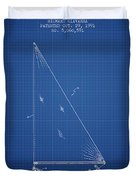 Sailboat Patent From 1991- Blueprint Duvet Cover