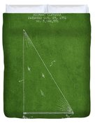 Sailboat Patent From 1991- Green Duvet Cover