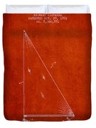 Sailboat Patent From 1991- Red Duvet Cover