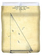 Sailboat Patent From 1991- Vintage Duvet Cover