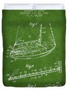 Sailboat Patent From 1996 - Green Duvet Cover