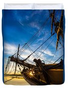 Sailboat Sunrise Duvet Cover