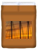 Sailboat Sunrise Duvet Cover