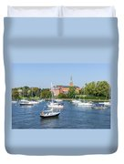 Sailboats By Charles Carroll House Duvet Cover