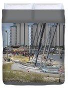 Sailboats For Playtime Duvet Cover