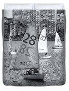 Sailboats On The Charles River II Duvet Cover by Clarence Holmes
