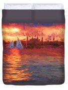 Sailboatsunset Duvet Cover