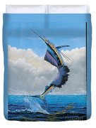 Sailfish Dance Off0054 Duvet Cover