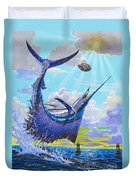 Sailfish Football Off0030 Duvet Cover by Carey Chen