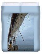 Sailing A Skipjack Duvet Cover