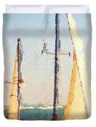 Sailing At Daytona Duvet Cover