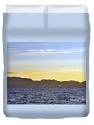 Sailing At Sunset - Lake Tahoe Duvet Cover