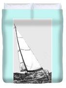 Sailing Freedom On A Reach Duvet Cover