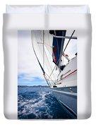 Sailing Bvi Duvet Cover by Adam Romanowicz