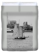 Sailing Free In Black And White Duvet Cover