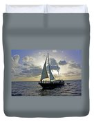 Sailing In Aruba Duvet Cover