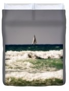 Sailing In California Duvet Cover