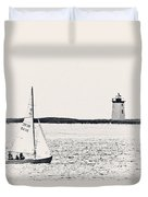 Sailing In Cape Cod Duvet Cover