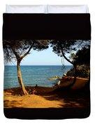 Sailing In Solitude Duvet Cover