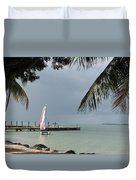 Sailing Key Largo Duvet Cover