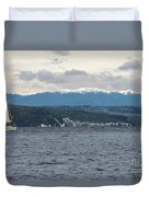 Sailing Lake Taupo Duvet Cover