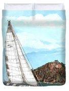 Bay Of Islands Sailing Sailing Duvet Cover
