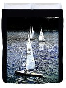 Sailing On Blue Duvet Cover