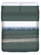 Sailing On Lake Erie Duvet Cover