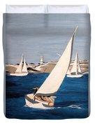 Sailing On San Francisco Bay Duvet Cover