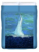 Sailing On The Blue Duvet Cover