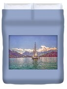 Sailing On The Lake Duvet Cover
