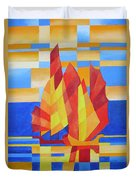 Sailing On The Seven Seas So Blue Duvet Cover by Tracey Harrington-Simpson