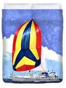 Sailing Primary Colores Spinnaker Duvet Cover