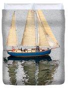 Sailing Puget Sound Duvet Cover