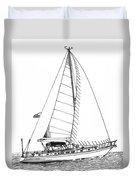Sailing Sailing Sailing Duvet Cover by Jack Pumphrey