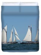 Sailing Ship In The Ocean At Gloucester Duvet Cover