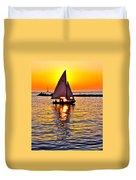 Sailing Silhouette Duvet Cover