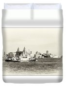 Sailing Up The Mersey Duvet Cover