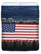 Sailors And Marines Display Duvet Cover