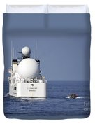 Sailors In A Rigid-hull Inflatable Duvet Cover