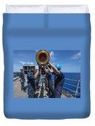 Sailors Load Rim-7 Sea Sparrow Missiles Duvet Cover