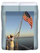 Sailors Salute The National Ensign Duvet Cover