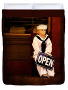 Sailors Welcome Cropped Duvet Cover