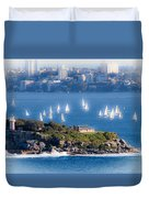 Sails Out To Play Duvet Cover