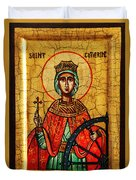 Saint Catherine Of Alexandria Icon Duvet Cover