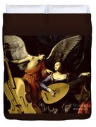 Saint Cecilia And The Angel Duvet Cover