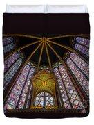 Saint Chapelle Windows Duvet Cover